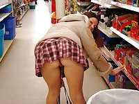 Amateur Girls Flashing in public stores