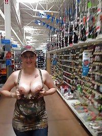 Girls Flashing at Walmart