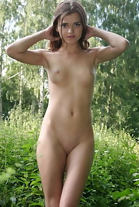 Tiny Tits and Shaved Pussy